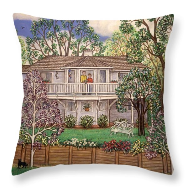 Nancy's House Throw Pillow by Linda Mears