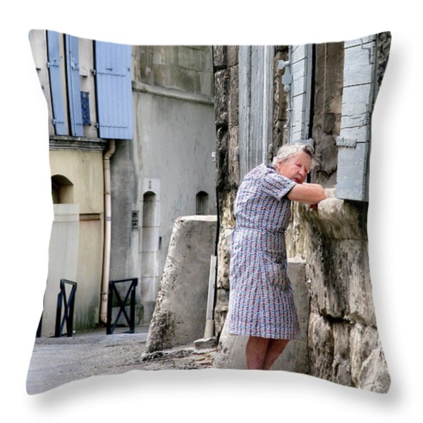Naptime In Arles. France Throw Pillow by Jennie Breeze