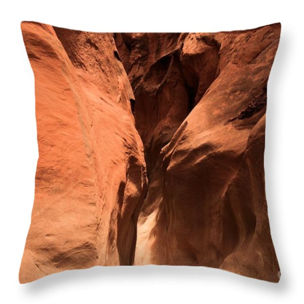 Narrow Red Rock Slots Throw Pillow by Adam Jewell