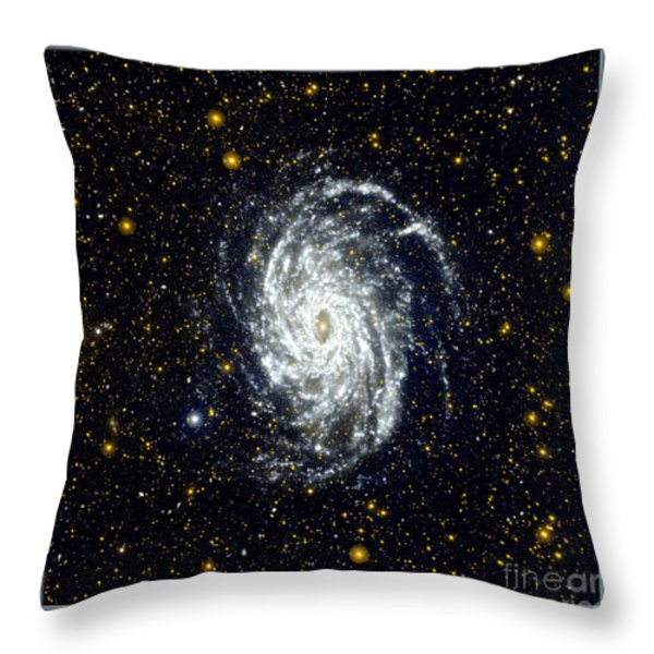 NASA Big Brother to the Milky Way Throw Pillow by Rose Santuci-Sofranko