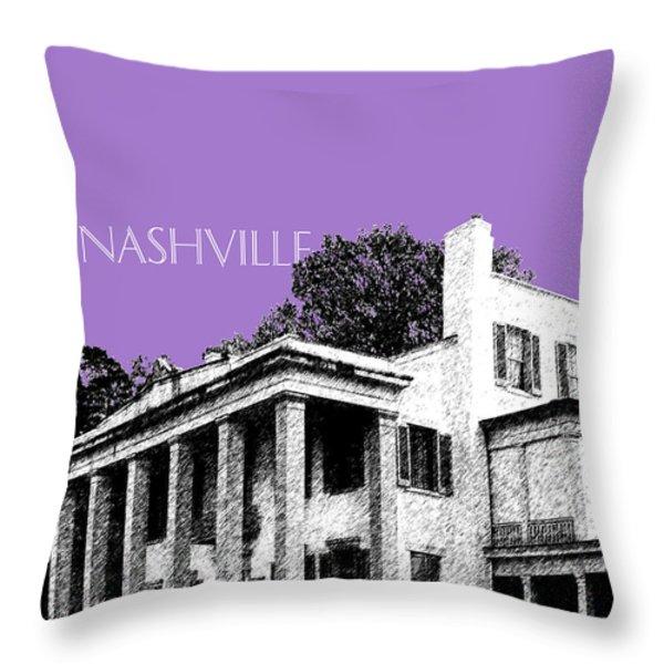 Nashville Skyline Belle Meade Plantation - Violet Throw Pillow by DB Artist