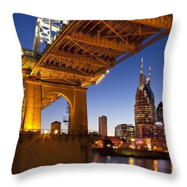 Nashville Tennessee Throw Pillow by Brian Jannsen