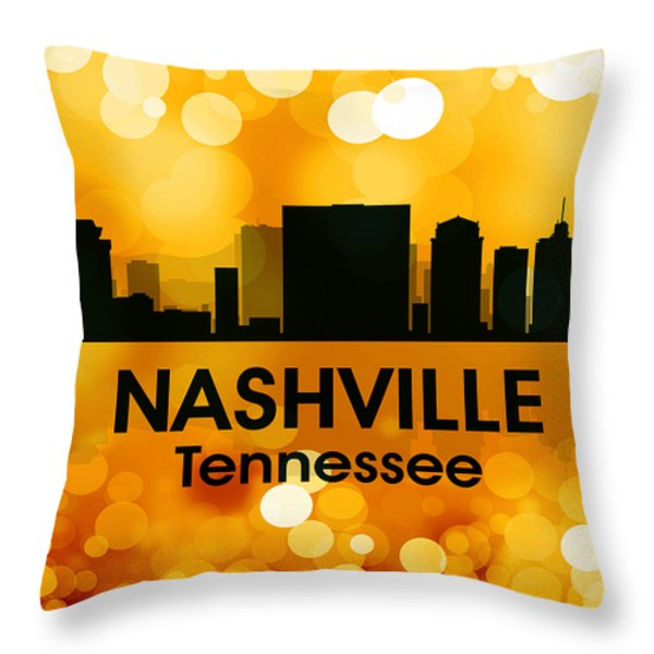 Nashville Tn 3 Throw Pillow by Angelina Vick
