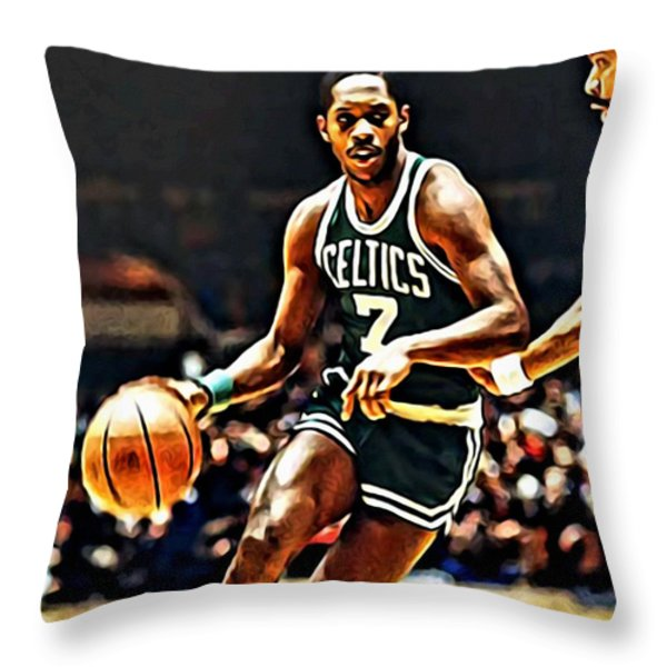 Nate Archibald Throw Pillow by Florian Rodarte