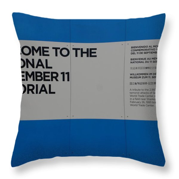 National 9/11 Memorial Throw Pillow by Rob Hans