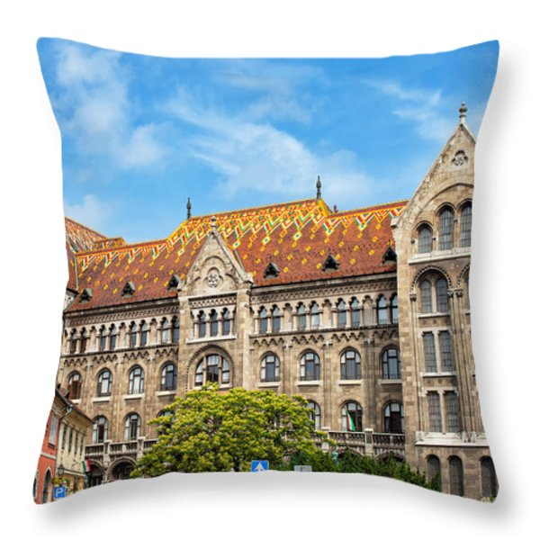National Archives Of Hungary Throw Pillow by Artur Bogacki
