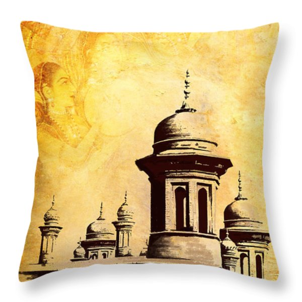 National College of Arts Lahore Throw Pillow by Catf
