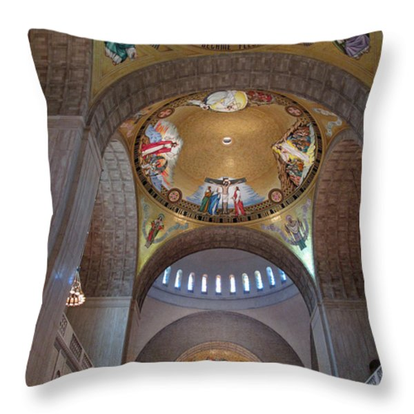 National Shrine Interior Throw Pillow by Barbara McDevitt