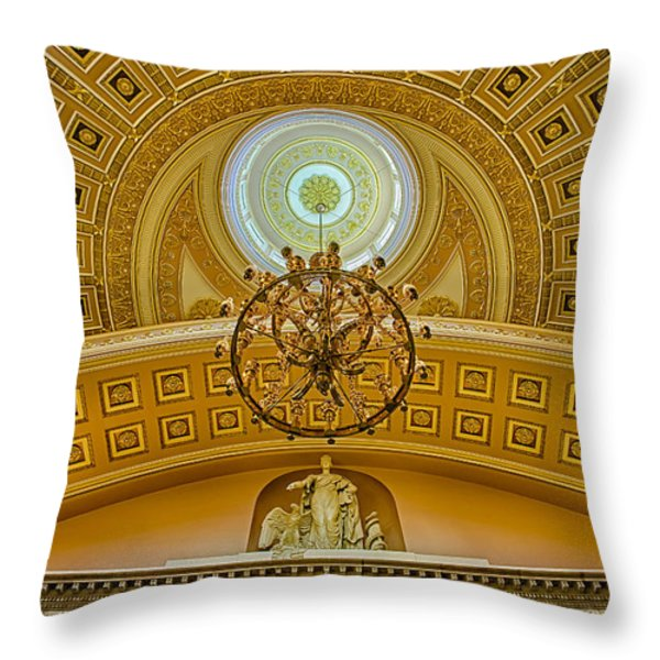 National Statuary Hall Throw Pillow by Susan Candelario