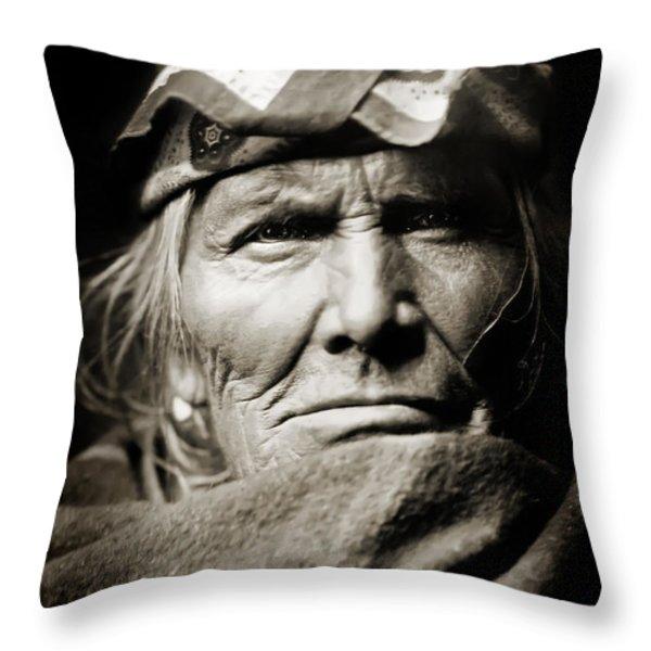 Native American Zuni -  Si Wa Wata Wa  Throw Pillow by The  Vault - Jennifer Rondinelli Reilly