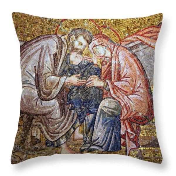Nativity Throw Pillow by Stephen Stookey