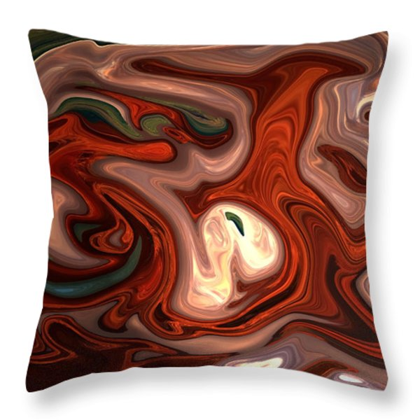 Natural Flow Throw Pillow by Aidan Moran
