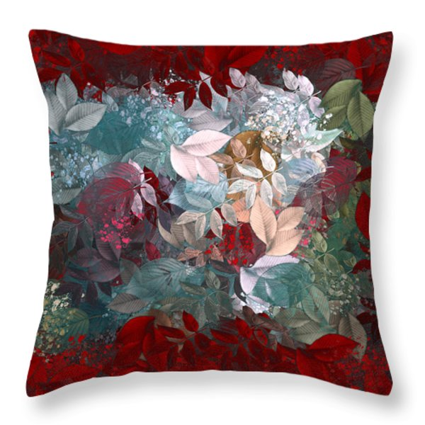 Naturaleaves - s20-03c Throw Pillow by Variance Collections
