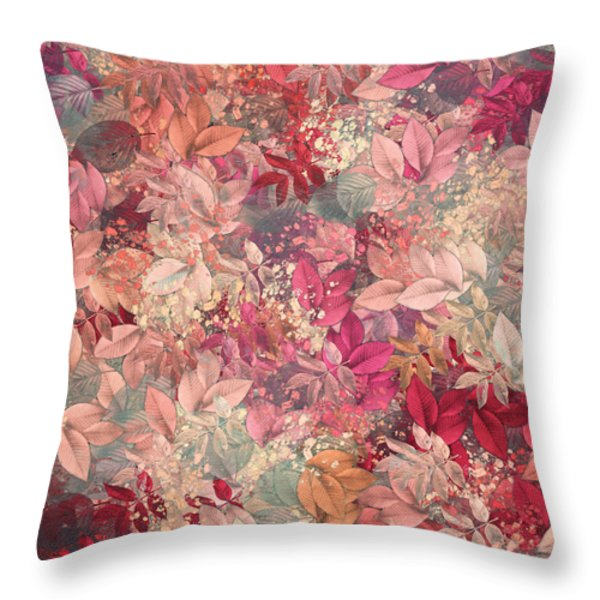 Naturaleaves - S65b Throw Pillow by Variance Collections