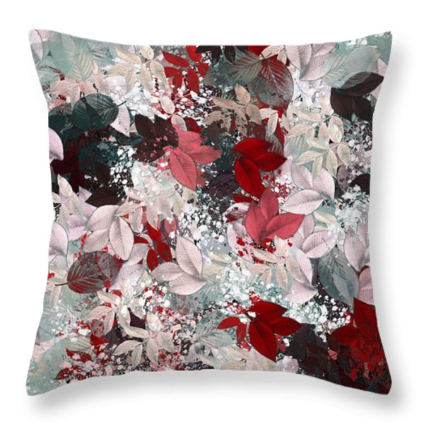 Naturaleaves - S69-02a Throw Pillow by Variance Collections