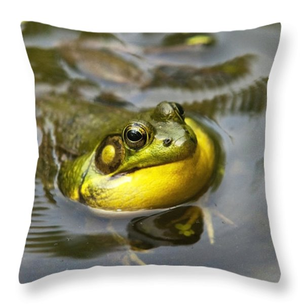 Nature Calling Throw Pillow by Christina Rollo