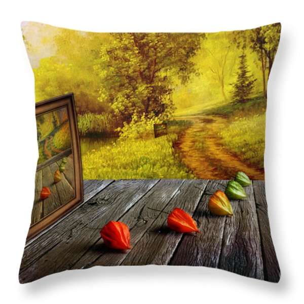 Nature Exhibition Throw Pillow by Veikko Suikkanen