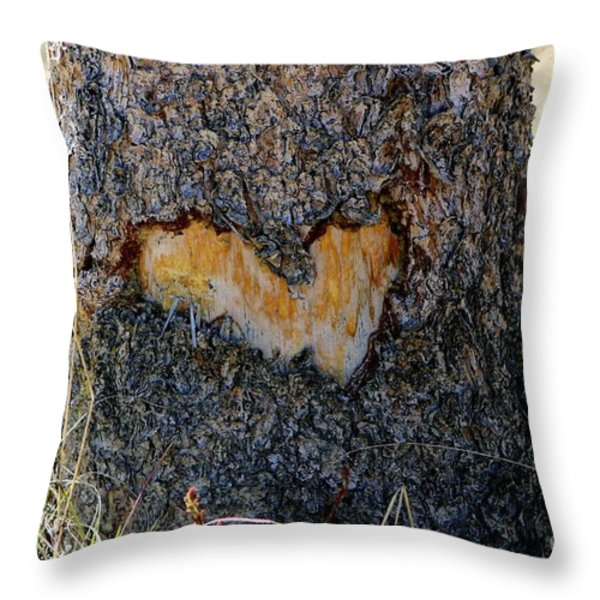 Nature Is In My Heart Throw Pillow by Fiona Kennard
