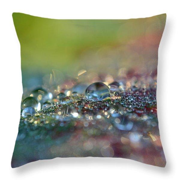 Nature Sparkles Throw Pillow by Melanie Moraga
