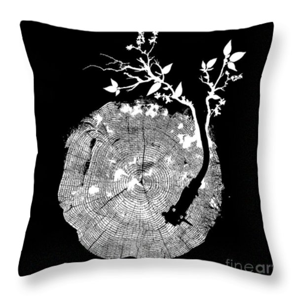 Nature's Choir mono Throw Pillow by Budi Satria Kwan