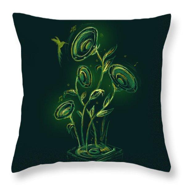Natures Music Box Throw Pillow by Budi Satria Kwan