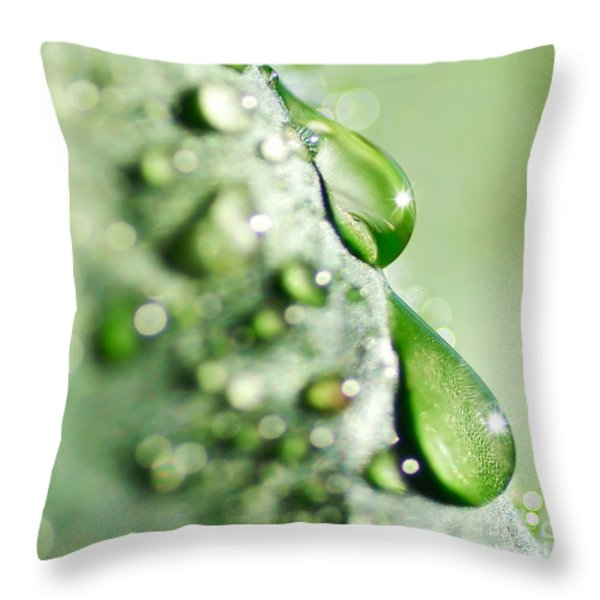 Nature's Teardrops Throw Pillow by Kaye Menner