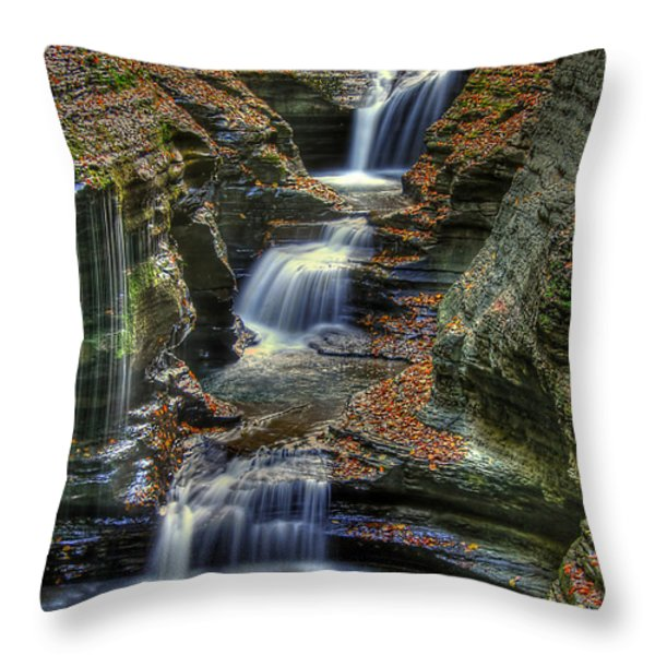 Nature's Tears Throw Pillow by Evelina Kremsdorf