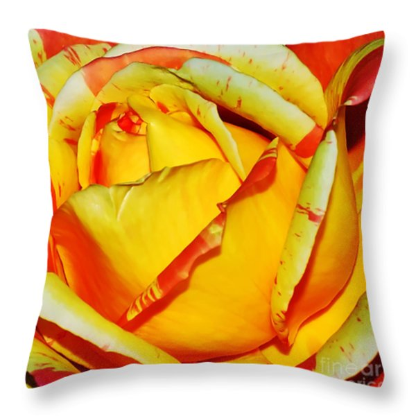 Nature's Vivid Colors Throw Pillow by Kaye Menner