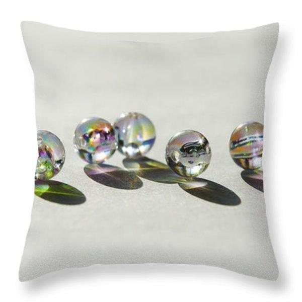 Naughty Beads Throw Pillow by Svetlana Sewell