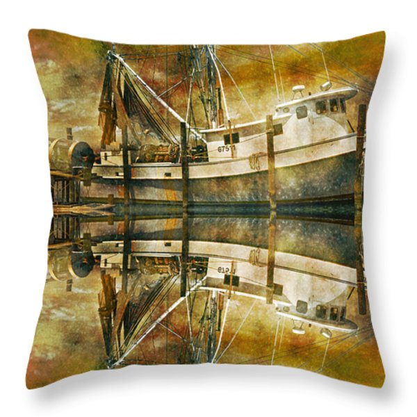 Nautical Timepiece Throw Pillow by Betsy A  Cutler