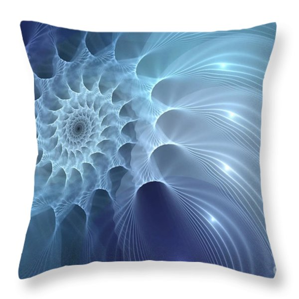 Nautilus Throw Pillow by John Edwards