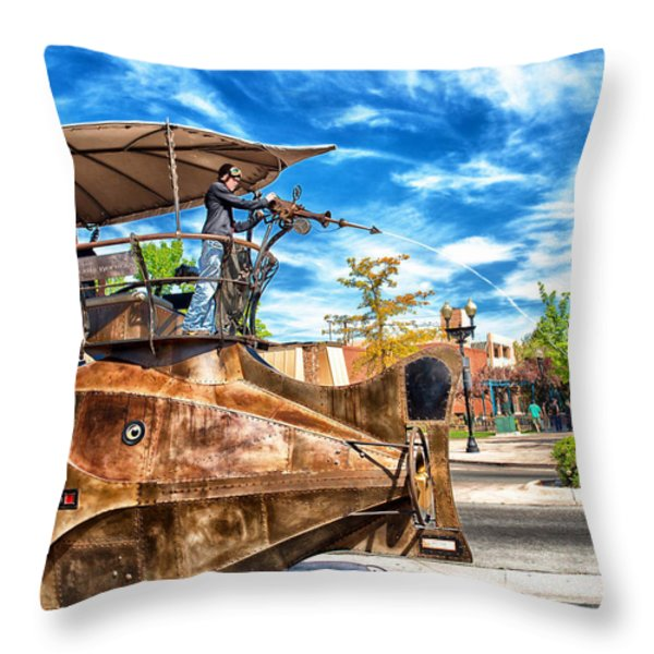 Nautilus Water Gun Throw Pillow by Vincent Cascio