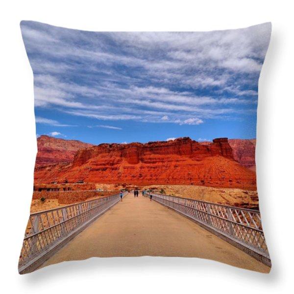 Navajo Bridge Throw Pillow by Dan Sproul