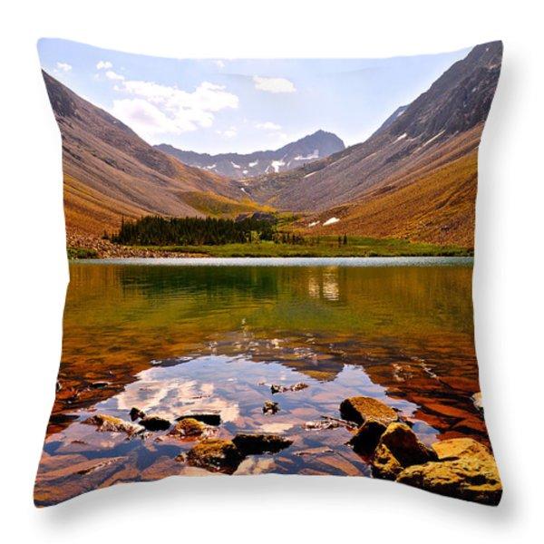 Navajo Lake Throw Pillow by Aaron Spong