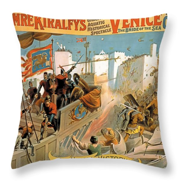 Naval Victory Throw Pillow by Terry Reynoldson