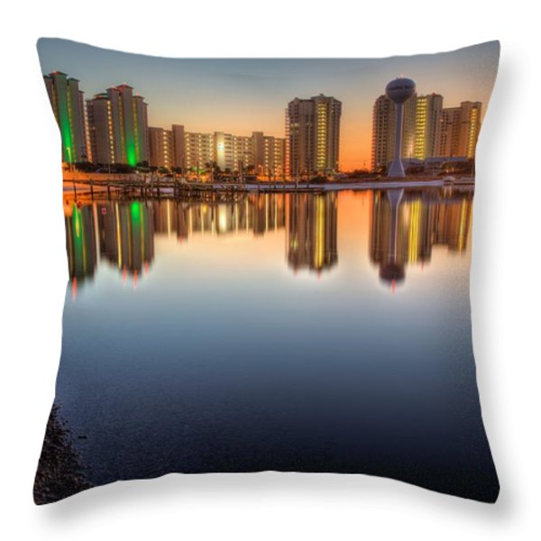 Navarre Beach Throw Pillow by JC Findley