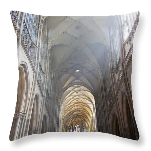 Nave Of The Cathedral Throw Pillow by Michal Boubin