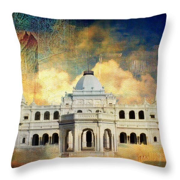 Nawab's Palace Throw Pillow by Catf