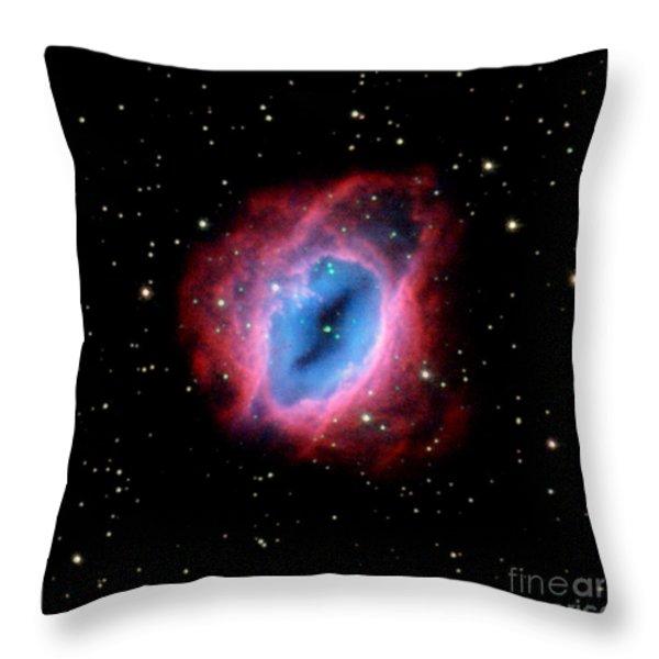 Nebula and Stars NASA Throw Pillow by Rose Santuci-Sofranko