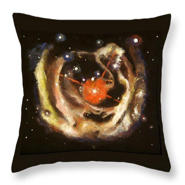 Nebula Throw Pillow by Sheila Diemert