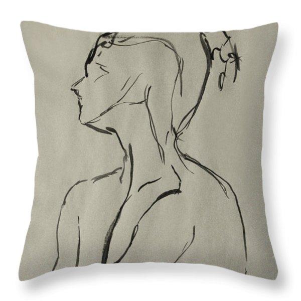 Neckline Throw Pillow by Peter Piatt