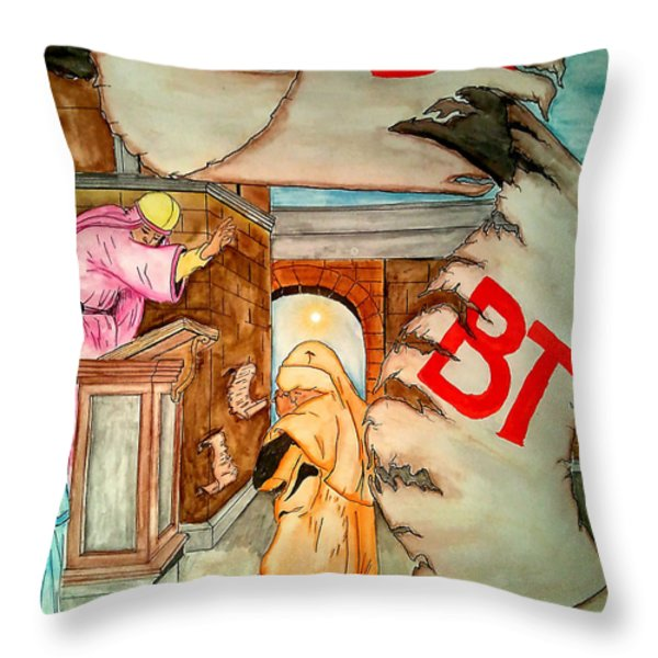 Nehemiah Page 5 Throw Pillow by Justin Moore
