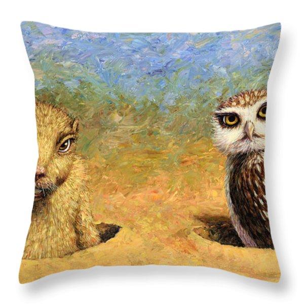 Neighbors Throw Pillow by James W Johnson