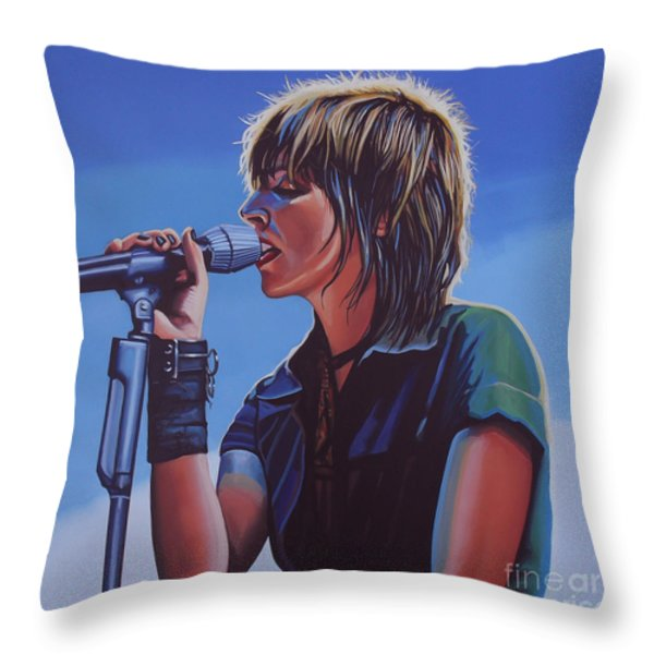 Nena Throw Pillow by Paul  Meijering