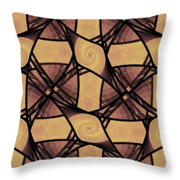 Net Throw Pillow by Anastasiya Malakhova