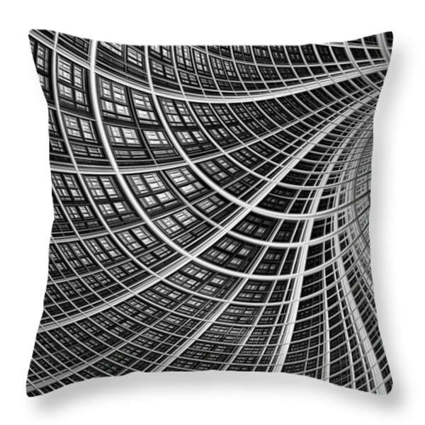 Network II Throw Pillow by John Edwards