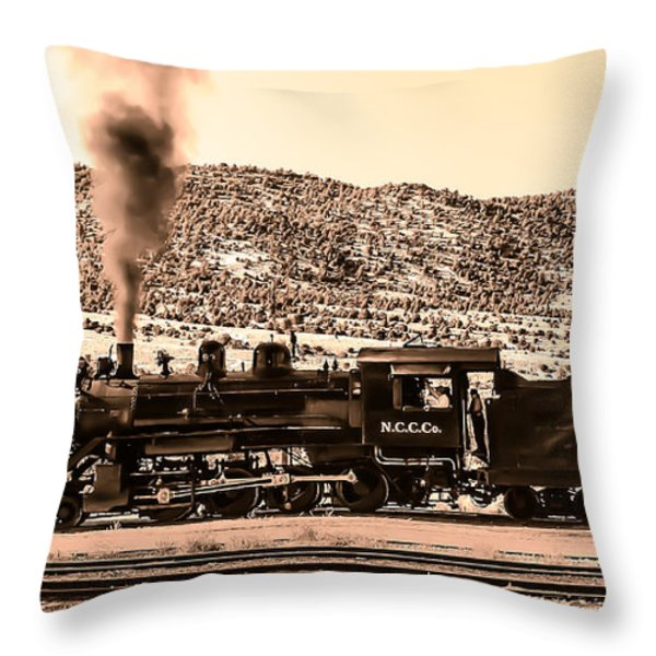 Nevada Northern Railway Throw Pillow by Robert Bales