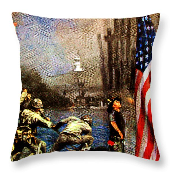 Never Forget Throw Pillow by M and L Creations Art Craft Boutique