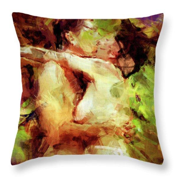 Never Let Me Go Throw Pillow by Kurt Van Wagner