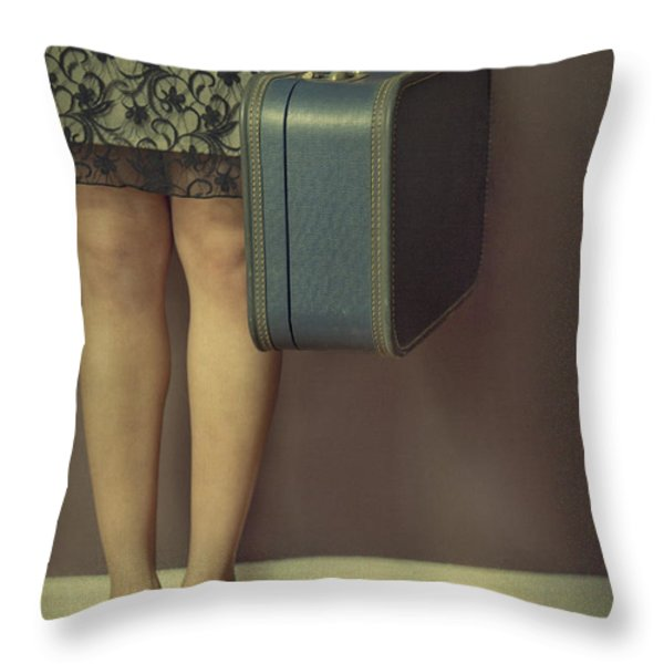 Never To Look Back Throw Pillow by Evelina Kremsdorf